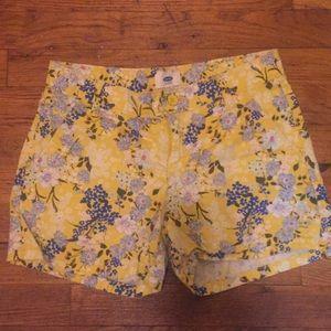 Girls floral shorts 10